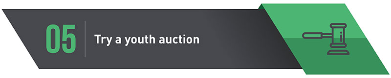 Charity Auctions tip #5: Try a youth auction