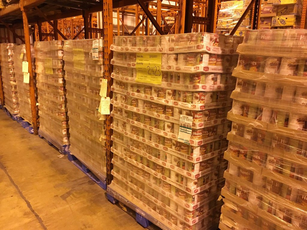 FASWVA's warehouse ships over $31 million of food and groceries.