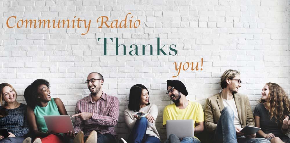 Community Radio thanks you!