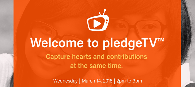 Facebook Live: pledgeTV demo Wednesday, March 14 2018