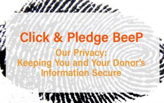 Click & Pledge BeeP: Our Privacy
