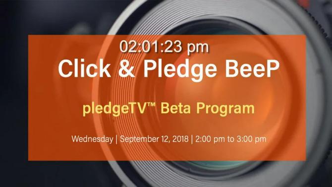BeeP on Facebook Live: The pledgeTV™ Beta Program