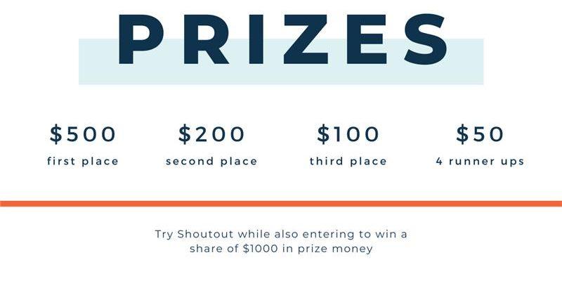 Shoutout Competition Prizes
