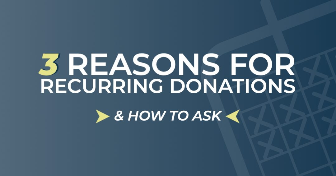 How to ask for recurring donations