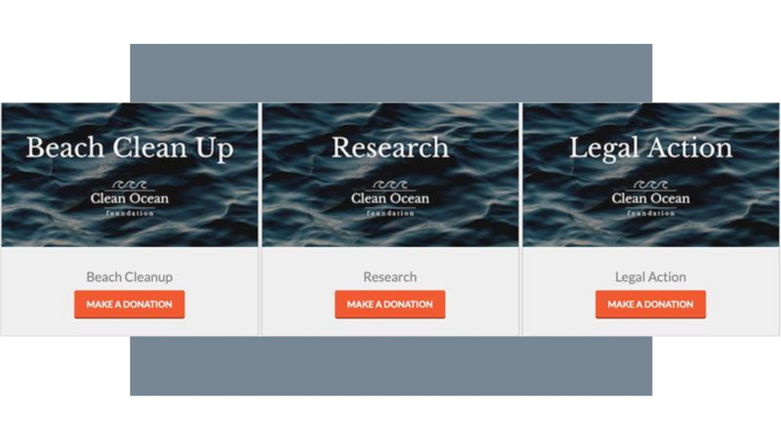 Give each fundraising initiative its own campaign page