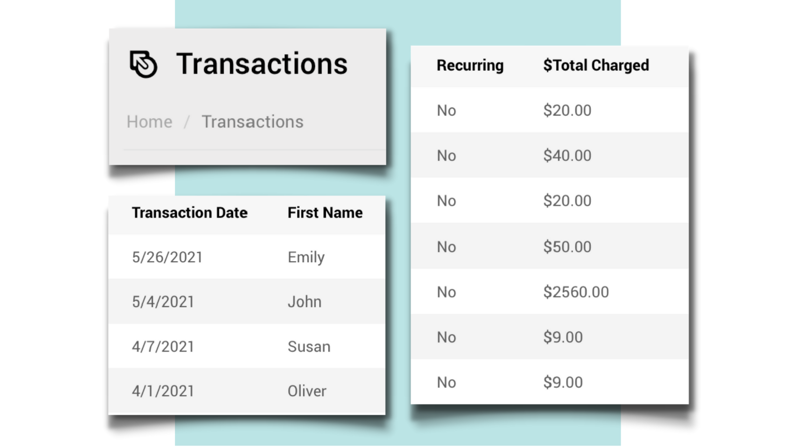 Manage Transactions with Ease