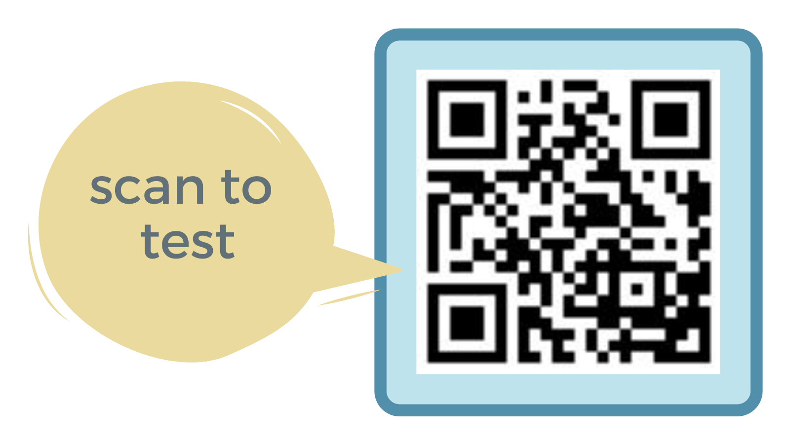 Scan to test SMSgiving